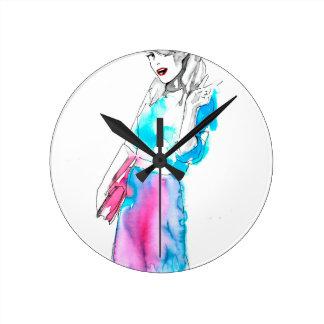 Modemädchen-Skizzeentwurf Uhren
