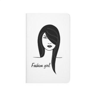 Modemädchen Taschennotizbuch
