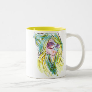 Modemädchen Kaffee Haferl