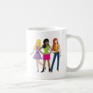 Modemädchen Kaffee Tassen