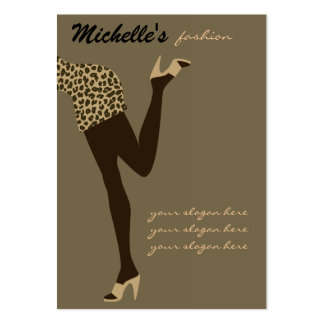 Modemädchen-Visitenkarteentwurf Visitenkartenvorlagen