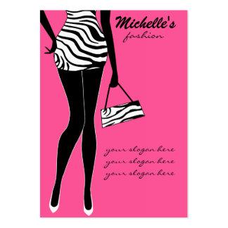 Modemädchen-Visitenkarteentwurf Mini-Visitenkarten