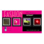 Modephotographie/Fotoschablone Visitenkarten Vorlage