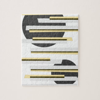 Modern abstract boxes and circles pattern puzzle