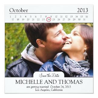 Modern addieren Sie Save the Date Ihr eigenes Bild Quadratische 13,3 Cm Einladungskarte