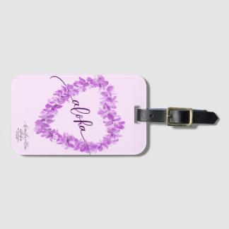 Modern Aloha Orchid Lei Heart Luggage Tag Gepäckanhänger
