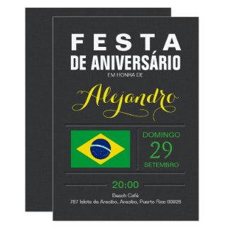 Modern: Brasilien-Party 12,7 X 17,8 Cm Einladungskarte