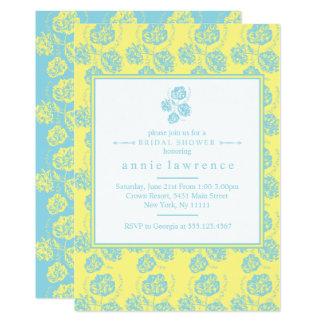 Modern, Chic-BlumenBrautparty-Einladungen Karte