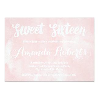 Modern erröten rosa Aquarell Bonbon 16 12,7 X 17,8 Cm Einladungskarte