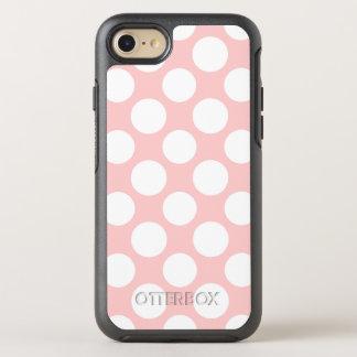 Modern erröten rosa weißes Tupfen-Muster OtterBox Symmetry iPhone 8/7 Hülle