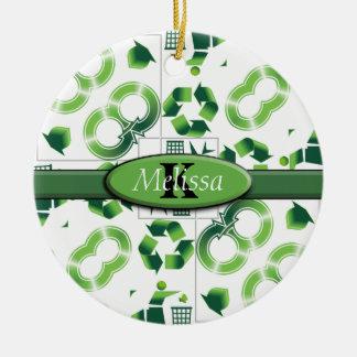 Modern gehen Sie grün u. recyceln Sie Keramik Ornament