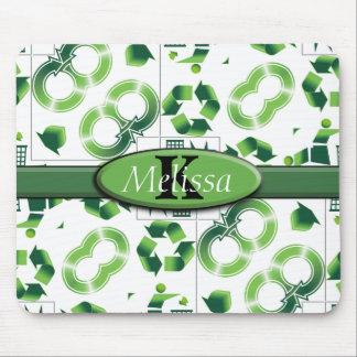 Modern gehen Sie grün u. recyceln Sie Mousepad