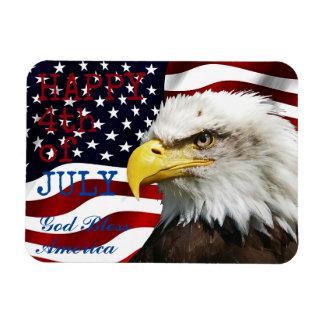 Modern kennzeichnen Juli 4. US USA Amerikaner Magnet