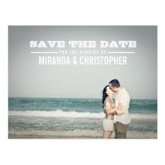 Modern Save the Date Wedding Foto-Postkarte