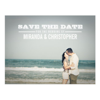 Modern Save the Date Wedding Foto-Postkarte Postkarte