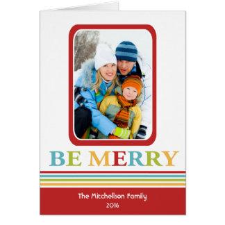 Modern SEIEN Sie FRÖHLICHE bunte Weihnachtskarte Karte