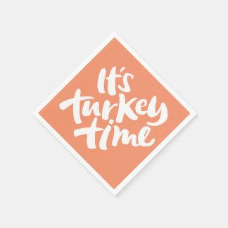 Modern - sein die Türkei-Zeit-Erntedank-Abendessen Serviette