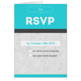 Modern wedding RSVP Karte