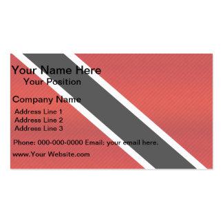 Moderne abgestreifte Flagge von Trinidad Visitenkarten Vorlagen