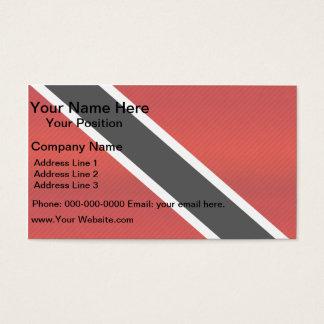 Moderne abgestreifte Flagge von Trinidad Visitenkarten