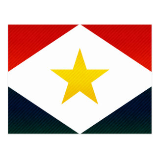Moderne abgestreifte Saban Flagge Postkarte