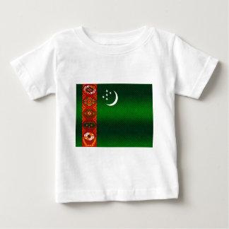 Moderne abgestreifte turkmenische Flagge Baby T-shirt