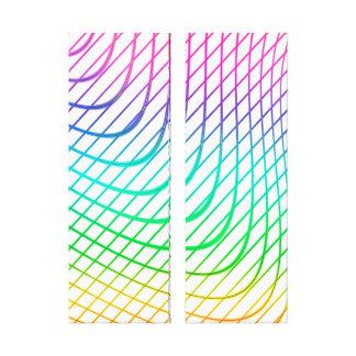 Moderne abstrakte bunte Linie Kunst Leinwanddruck