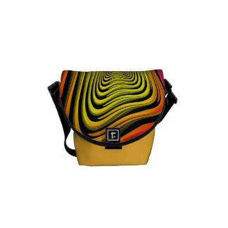 Moderne abstrakte Funky Minibote-Tasche Kurier Taschen