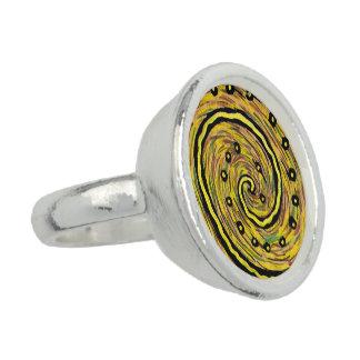 Moderne abstrakte gelbe Kunst Ring