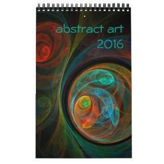 Moderne abstrakte Kunst 2016 Wandkalender