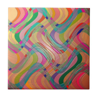 Moderne abstrakte Kunst-bunter beflecktes Fliese