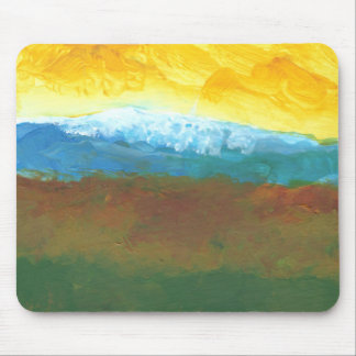 Moderne abstrakte Landcape Malerei Mousepad