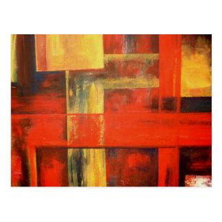 Moderne abstrakte Leinwand-Malerei-Kunst Postkarte