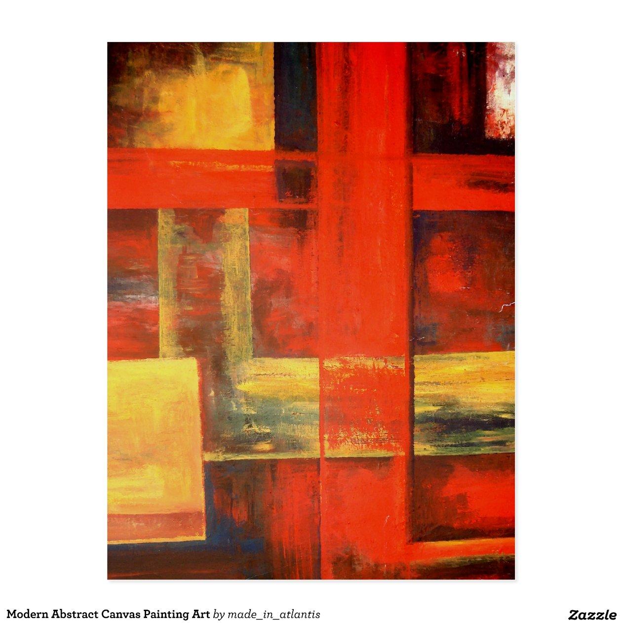 moderne abstrakte leinwand malerei kunst postkarten zazzle. Black Bedroom Furniture Sets. Home Design Ideas
