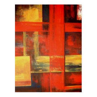 Moderne Abstrakte Leinwand Malerei Kunst Postkarte