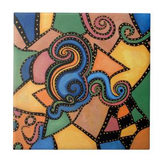 Moderne abstrakte Malerei Fliese