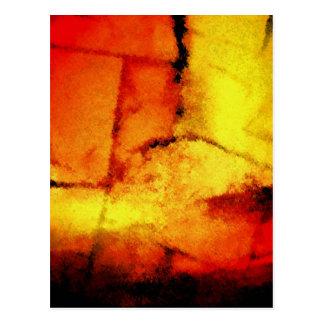 Moderne abstrakte Malerei-Kunst Postkarte