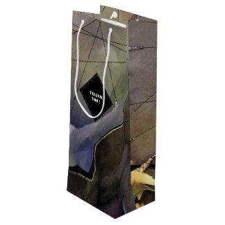 Moderne abstrakte Malerei-Wein-Geschenk-Taschen Geschenktüte Für Weinflaschen