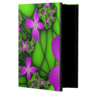 Moderne abstrakte rosa grüne Fraktal-NeonBlumen