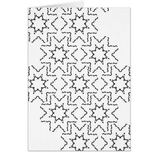 Moderne abstrakte Schwarzweiss-Entwurfsaufkleber Karte