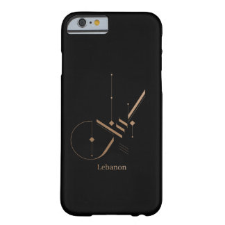 moderne arabische Kalligraphie - der Libanon Barely There iPhone 6 Hülle