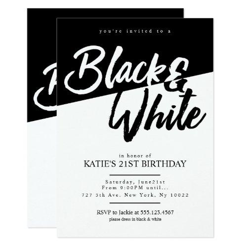 ... Moderne Art Schwarzweiss Party Einladungen ...