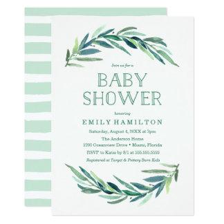 Moderne Babyparty-Einladung des Eukalyptus-| Karte