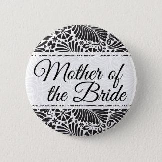 Moderne barocke Blumenmutter der Braut Runder Button 5,7 Cm