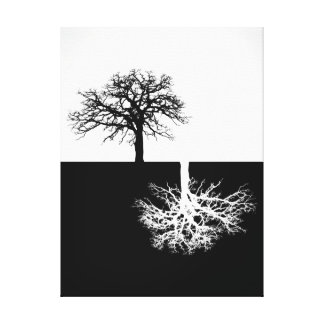 Moderne Baumkunst-Schwarzweiss-Leinwand Leinwanddruck