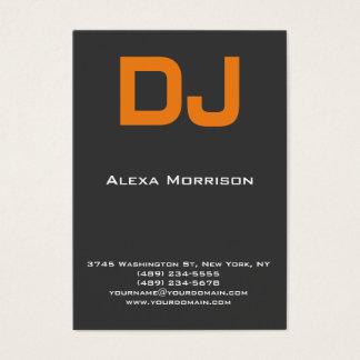 Moderne berufliche graue Orange DJ Visitenkarte