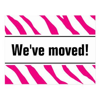 Moderne bewegliche Postkarten mit rosa Zebrastreif