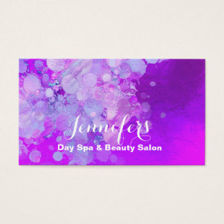 Moderne Blasen-Schönheits-Salon-Visitenkarte Visitenkarte