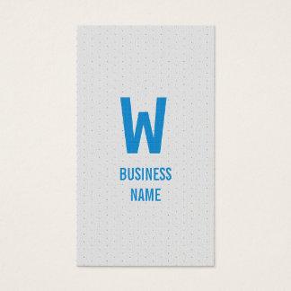 Moderne blaue Monogramm-Friseur-Visitenkarte Visitenkarte