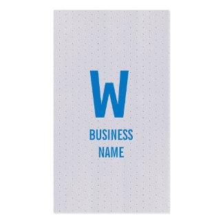 Moderne blaue Monogramm-Programmierer-Visitenkarte